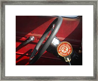 Rainier Stick Shift  Framed Print by Kym Backland