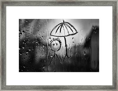 Raining Again Framed Print by Sunkies Fang