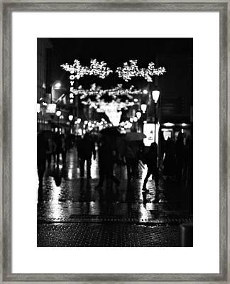 Raining In Dublin Framed Print by Patrick Horgan