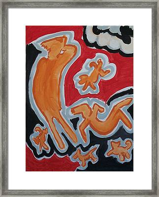 Raining Framed Print by Jay Manne-Crusoe