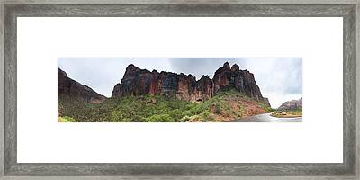 Raining On Tunnel Waterfall Framed Print by Gregory Scott