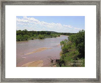 Framed Print featuring the photograph Rain's Result by Mark Robbins