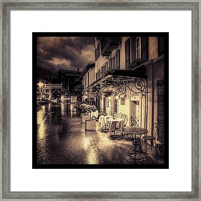 #rainy #cafe #classic #old #classy #ig Framed Print