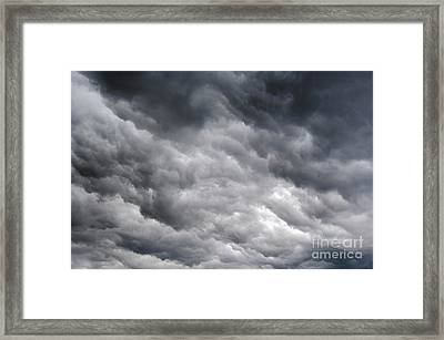 Rainy Clouds Framed Print by Michal Boubin
