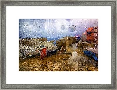 Rainy Day Abstract 3 Framed Print by Madeline Ellis