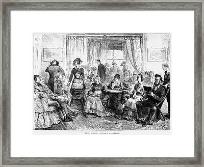Rainy Day At Resort, 1879 Framed Print by Granger