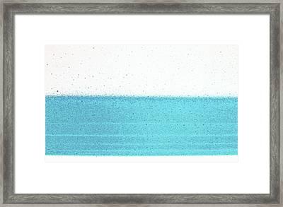 Rainy Day At The Beach Framed Print by James Mancini Heath