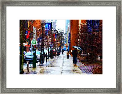 Rainy Day Feeling Framed Print by Bill Cannon