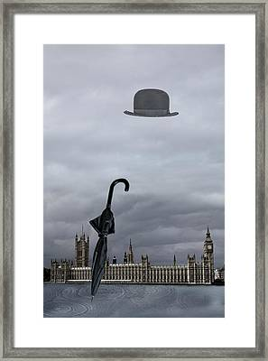 Rainy Day In London  Framed Print