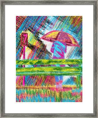 Rainy Day Framed Print by Kenal Louis