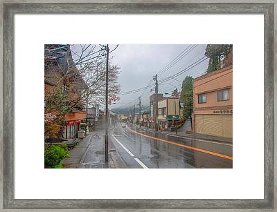 Rainy Day Nikko Framed Print