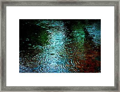 Rainy Day River Solitude Framed Print by Bruce Carpenter
