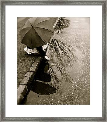 Rainy Day Solitude Framed Print