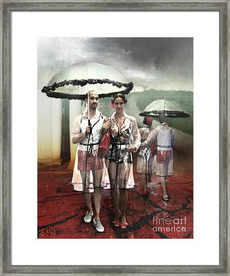 Rainy Day Woman Framed Print by Rosa Cobos