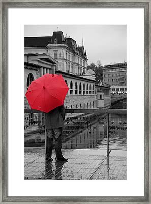 Rainy Days In Ljubljana Framed Print