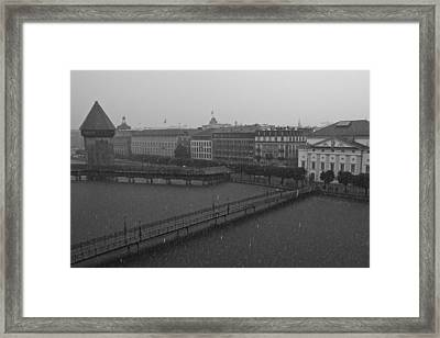 Rainy Days In Lucern Framed Print by Jim Neumann