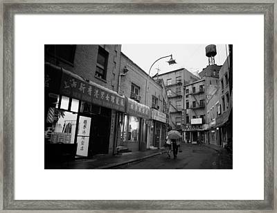 Rainy Evening - Chinatown - New York City Framed Print by Vivienne Gucwa