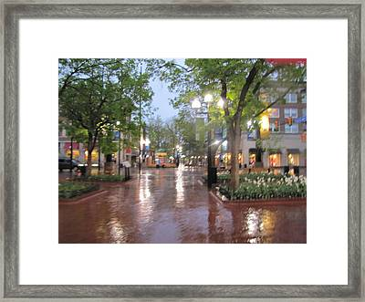 Framed Print featuring the photograph Rainy Evening In Boulder by Shawn Hughes
