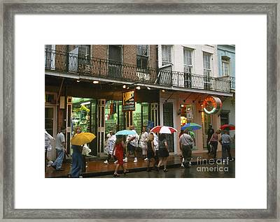 Rainy Evening On Bourbon Street  Framed Print by Thomas R Fletcher