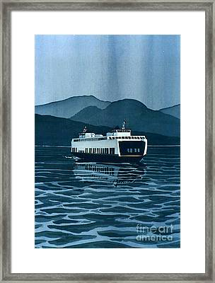 Rainy Ferry Framed Print