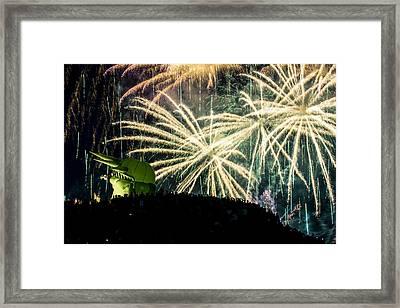 Rainy Fireworks Framed Print by Yoshiki Nakamura