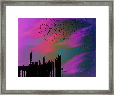 Rainy Rainy Night Framed Print