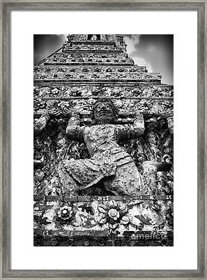 Raised Framed Print by Thanh Tran