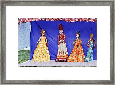 Rajasthan Tribal Puppet Show Framed Print by Kantilal Patel