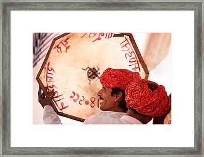 Rajasthani Drummers Framed Print by Mostafa Moftah