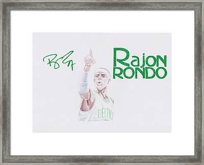 Rajon Rondo Framed Print by Toni Jaso
