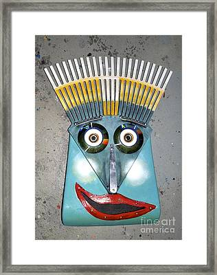Rake Man Framed Print by Bill Thomson