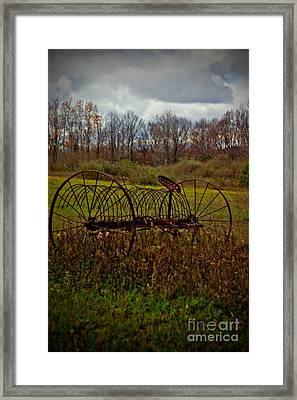 Rake Framed Print