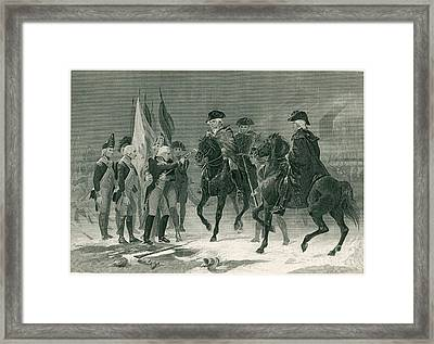 Rall Surrenders, Battle Of Trenton, 1776 Framed Print