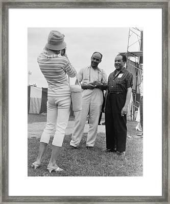 Ralph Ellison And Langston Hughes Framed Print by Everett