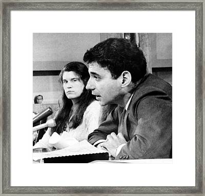 Ralph Nader, And Student Task Force Framed Print by Everett