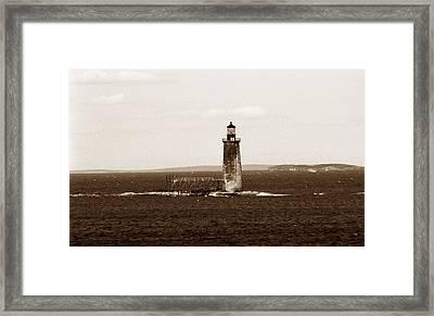 Ram Island Ledge Lighthouse Framed Print by Skip Willits
