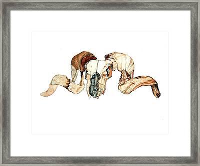 Ram Skull 2 Framed Print by Alfred Dominic Ligammari II