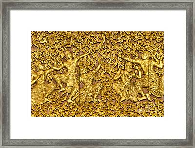 Framed Print featuring the photograph Ramayana by Luciano Mortula