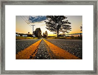 Ramblin Road Framed Print by Robert Clifford