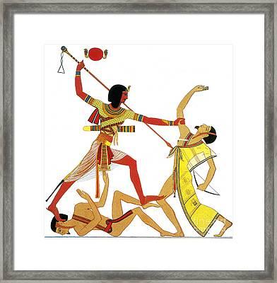 Ramesses II Impales Libyan Enemy, 12th Framed Print