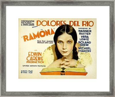 Ramona, Dolores Del Rio, 1928 Framed Print by Everett
