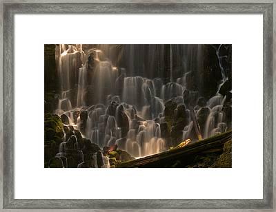 Ramona Falls Or   Framed Print by Ulrich Burkhalter