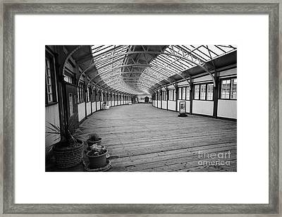 Ramp Down To The Rothesay Ferry Terminal In Weymss Bay Railway Station Scotland Uk Framed Print by Joe Fox