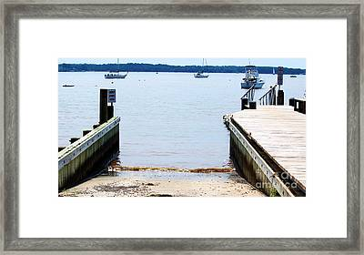 Ramp Ends Here Framed Print by Lorraine Louwerse