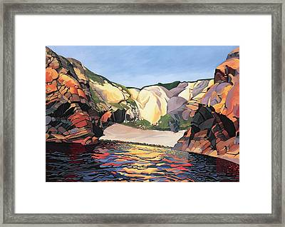 Ramsey Island - Land And Sea No 2 Framed Print by Anna Teasdale