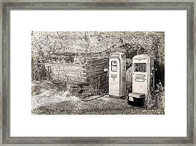 Ranch Gas Pumps Framed Print by Lenore Senior and Dawn Senior-Trask