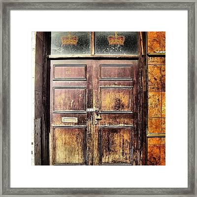 Random Door In Liverpool Streets Framed Print