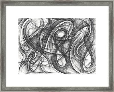 Random Intentions Framed Print by Michael Morgan