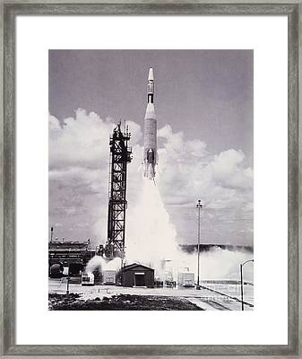 Ranger 7 Launch Framed Print by Science Source