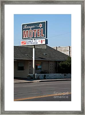 Ranger Motel Framed Print